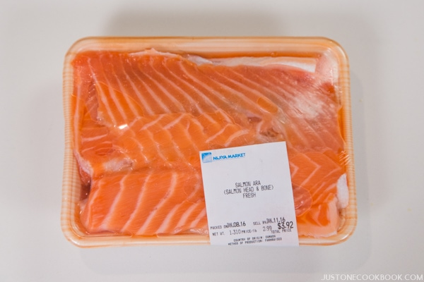 Salmon Scraps in a package.