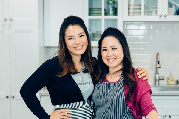 Seonkyoung & Nami in a kitchen.
