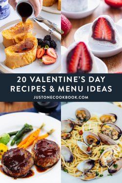 Valentine's day recipes and menu ideas