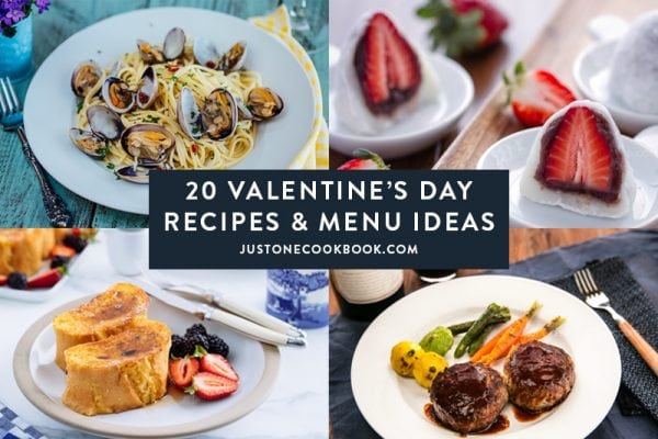 Valentine's day recipes and menu ideas | Just One Cookbook