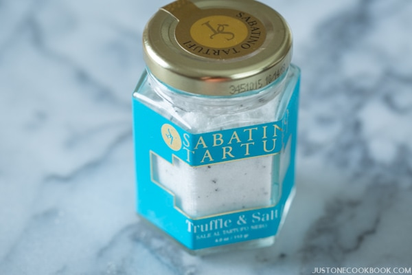 Truffle Salt in a bottle.