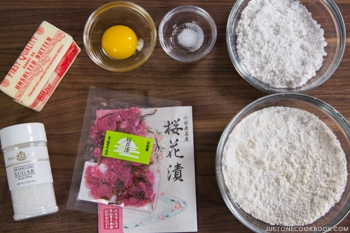 Cherry Blossom Cookies Ingredients