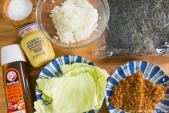 Chicken Katsu Onigirazu Ingredients