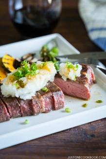 Sous Vide Steak - Japanese Style (Wafu Steak)   Easy Japanese Recipes at JustOneCookbook.com