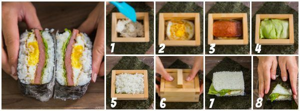 Onigirazu Mold Instructions Diagram | Easy Japanese Recipes at JustOneCookbook.com
