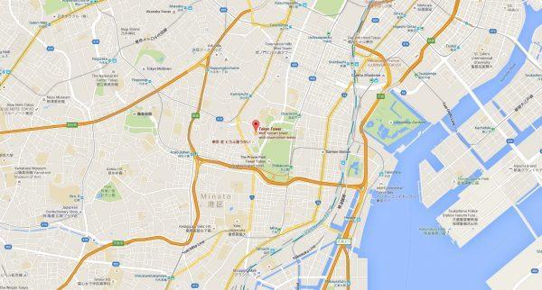 tokyo tower map