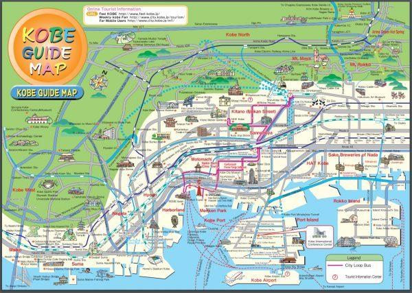 Kobe Japan City Map