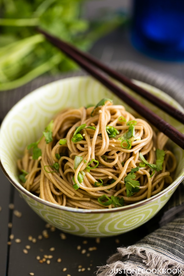 Soba Noodle Salad Easy Japanese Recipes At Justonecookbook Com