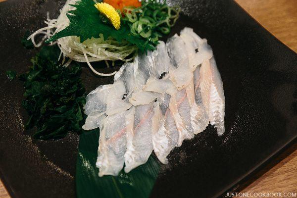 sea eel sashimi