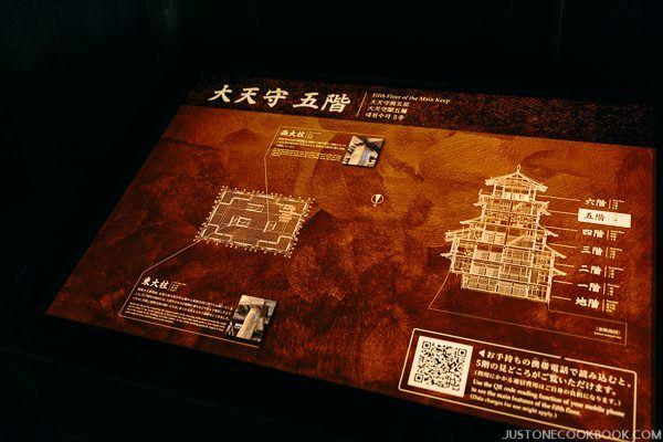 light up floor plan of himeji castle fifth floor