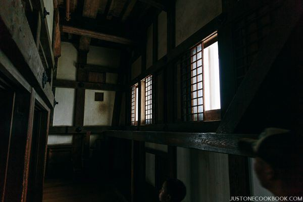 hallway and window at himeji castle
