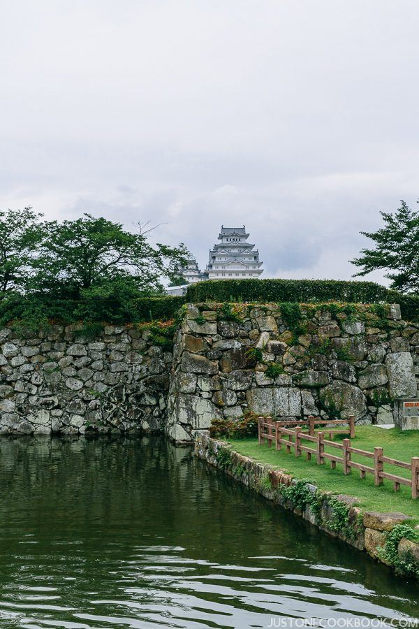 Himeji castle wall and moat