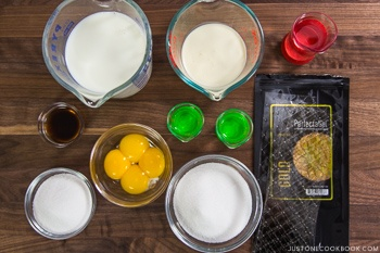 Japanese Pudding Ingredients