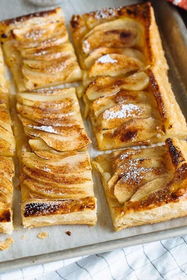Easy Apple Tart on a baking sheet.