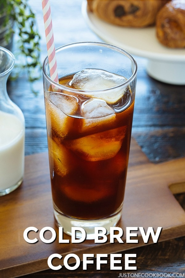Cold Brew Coffee with ice cubes in a glass.
