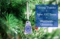 Giving Thanks + New JOC Team + Worldwide Giveaway