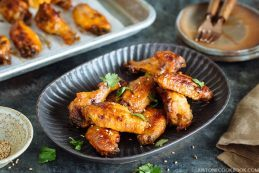 Slow Cooker Sriracha Chili Chicken Wings | Easy Japanese Recipes at JustOneCookbook.com