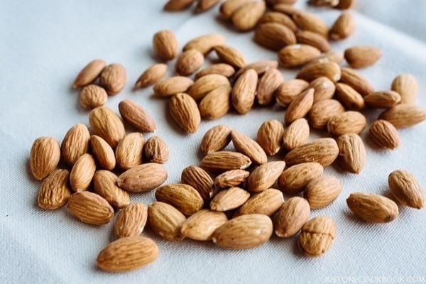 Whole Raw Almonds for Chocolate Almond Toffee Recipe | JustOneCookbook.com