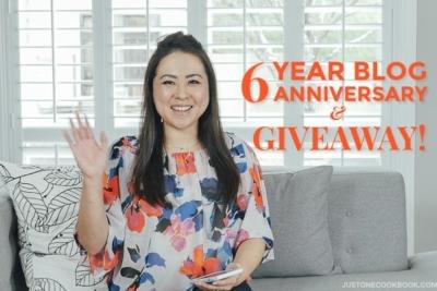 6 Year Blog Anniversary | Easy Japanese Recipes at JustOneCookbook.com