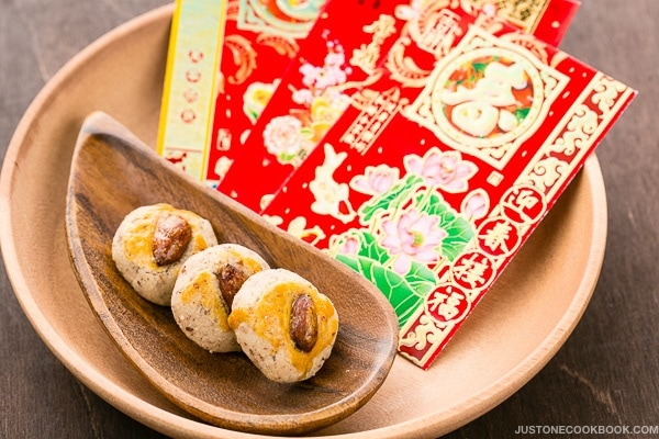 Chinese Almond Cookies for Lunar New Year | Easy Japanese Recipes at JustOneCookbook.com