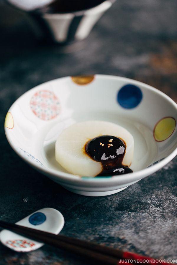 Miso Dengaku, Daikon in a small plate.
