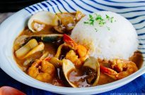Pressure Cooker Japanese Seafood Curry シーフードカレー (圧力鍋)