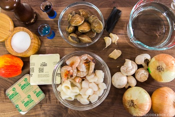Pressure Cooker Japanese Seafood Curry Ingredients