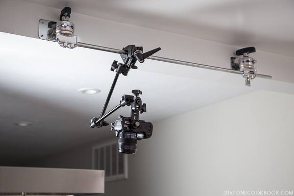 camera mounted on ceiling | Just One Cookbook