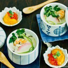 Chawanmushi with Shrimp 海老の茶碗蒸し | Easy Japanese Recipes at JustOneCookbook.com