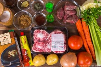 Pressure Cooker Oxtail Soup NEW Ingredients