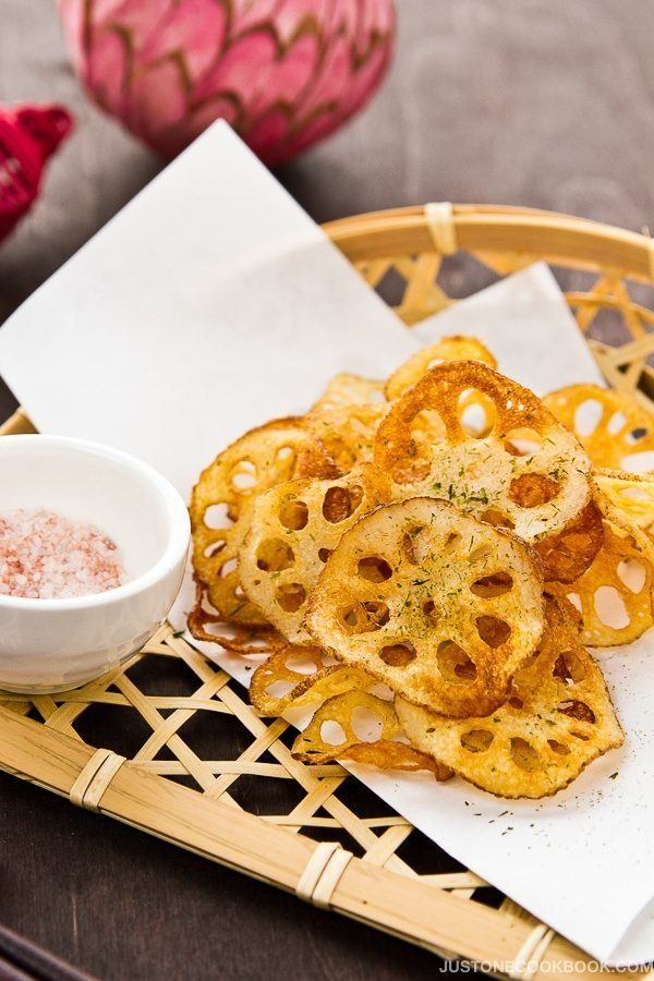 Lotus Root Chips (Renkon Chips) レンコンチップス | Easy Japanese Recipes at JustOneCookbook.com
