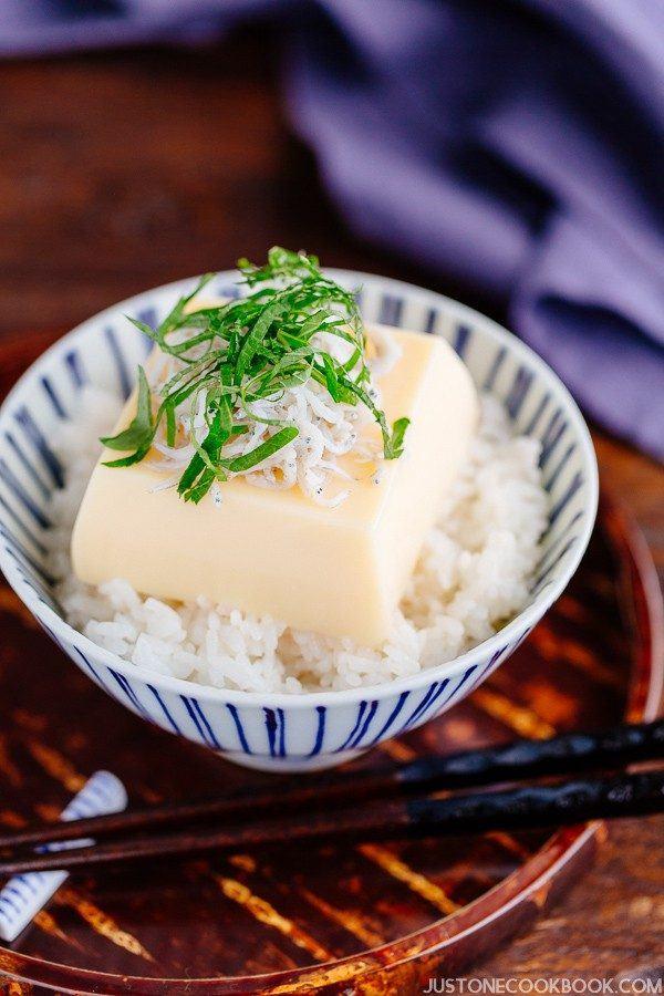 Tamago Tofu Gohan (Egg Tofu Rice) 玉子豆腐ご飯 | Easy Japanese Recipes at JustOneCookbook.com