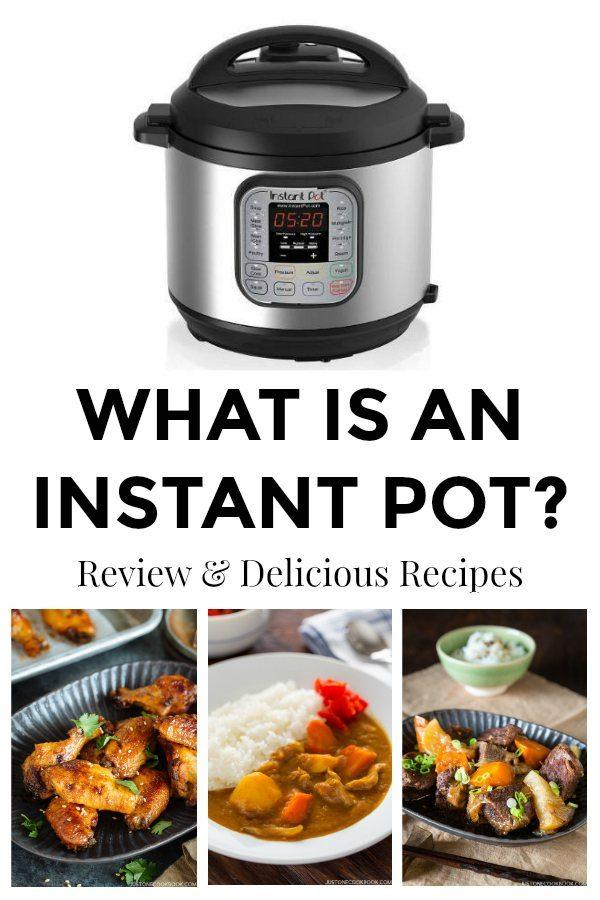 Instant pot recipes including chicken wings, Japanese curry, and beef dish.