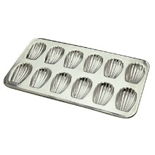 12 Count Heavy Tinned Steel Madeleine Sheet