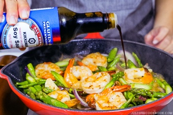 Easy Wafu Pasta with Shrimp and Asparagus 10