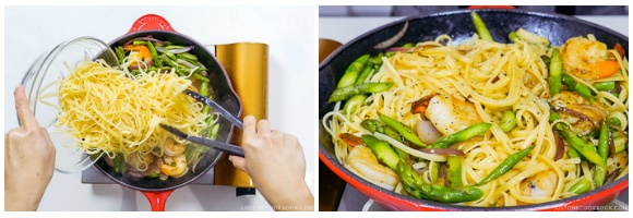 Easy Wafu Pasta with Shrimp and Asparagus 11
