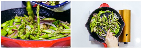 Easy Wafu Pasta with Shrimp and Asparagus 8