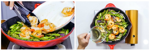 Easy Wafu Pasta with Shrimp and Asparagus 9