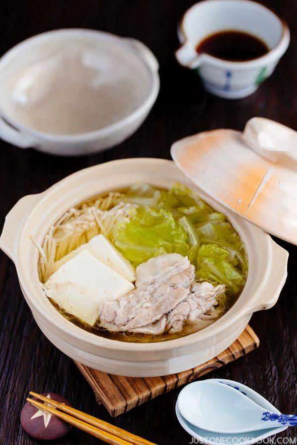 Hot Pot for One with Napa Cabbage & Sliced Pork Belly (白菜と豚バラの一人鍋) | Easy Japanese Recipes at JustOneCookbook.com
