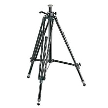 Manfrotto 028B Black Aluminum Studio Pro Triman Tripod with Geared Column