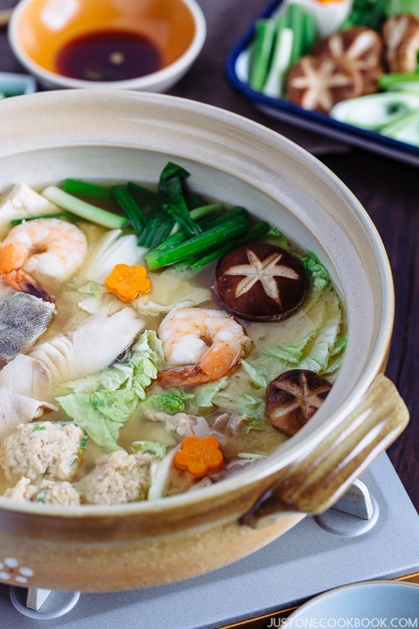 Chanko Nabe in a pot.