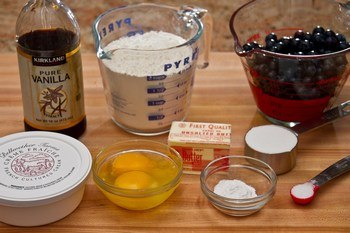 Blueberry Creme Fraiche Scones Ingredients