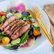 Steak Salad with Shoyu Dressing (gluten free) ステーキサラダ醤油ドレッシング | Easy Japanese Recipes at JustOneCookbook.com