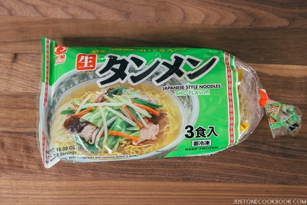 Tan-Men noodle in a package.