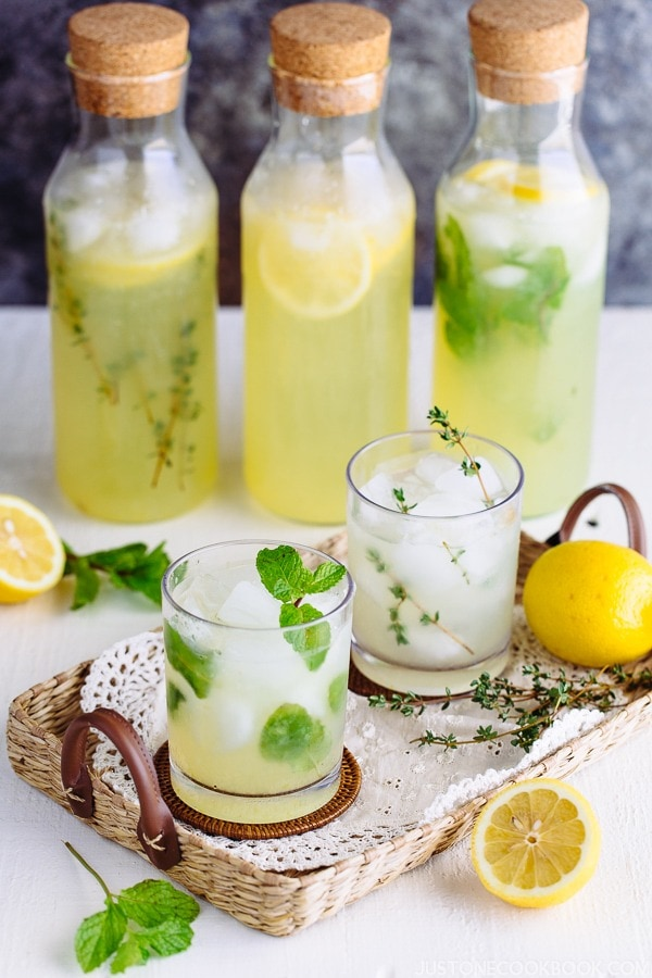 Homemade Lemonade (Classic, Mint, and Thyme) | Easy Japanese Recipes at JustOneCookbook.com