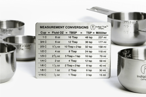 Indigo True Measurement Conversions