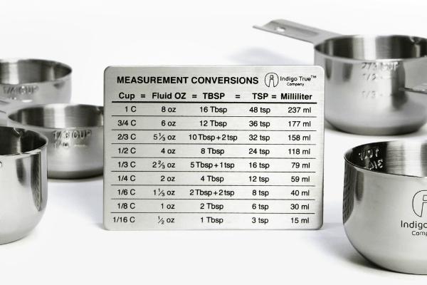 Indigo True Measurement Conversions