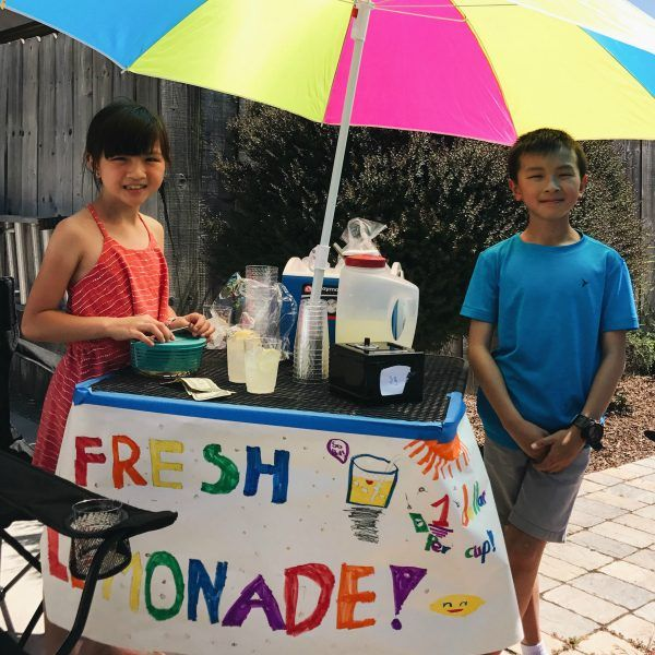 Two Kids at the Lemonade Stand.