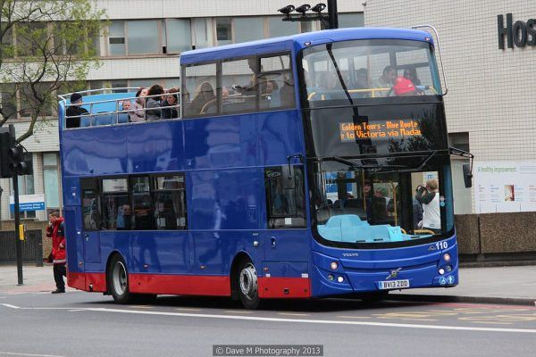 "Golden Tour Hop on Hop Off Bus London By David McKay (Golden Tours - 110 - BV13 ZDD - Blue Route) [<a href=""http://creativecommons.org/licenses/by/2.0"">CC BY 2.0</a>], <a href=""https://commons.wikimedia.org/wiki/File%3AGolden_Tours_bus_110_(BV13_ZDD)%2C_11_May_2013_(1).jpg"">via Wikimedia Commons</a>"