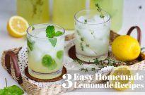 3 Easy Homemade Lemonade Recipes